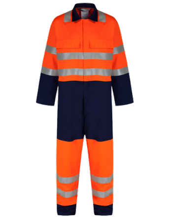 Combinaison HV orange/navy
