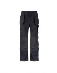 Pantalon noir avec poches genoux